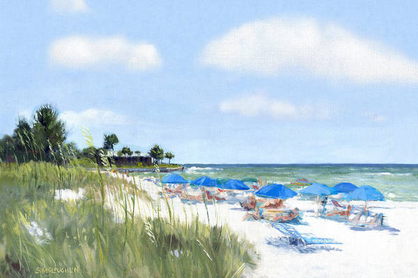 Crescent Beach Art Print featuring the painting Point Of Rocks On Siesta Key by Shawn McLoughlin