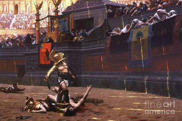 Pd Art Print featuring the painting Pollice Verso by Pg Reproductions