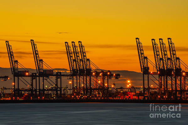 Bay Art Print featuring the photograph Port Of Felixstowe by Svetlana Sewell