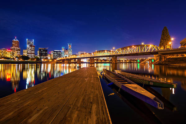 Portland Art Print featuring the photograph Portland Under The Stars by Dustin LeFevre
