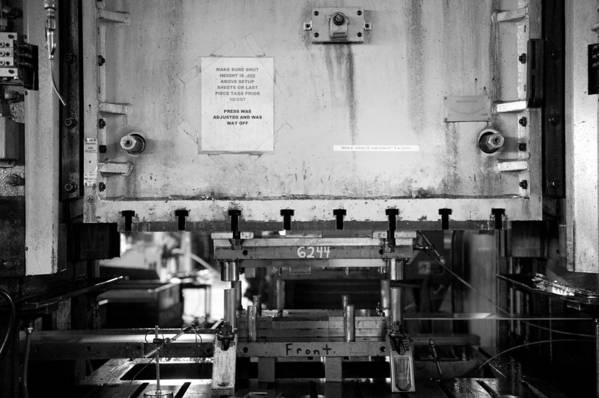 Manufacturing Art Print featuring the photograph Press 1 by Mike Tanner