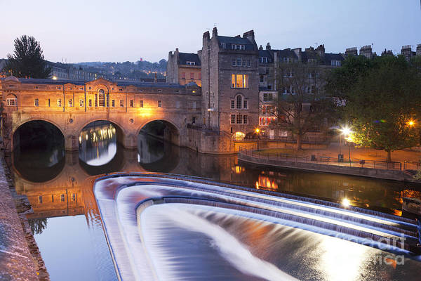 Architecture Print featuring the photograph Pulteney Bridge And Weir Bath by Colin and Linda McKie