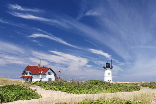 Race Point Light Art Print featuring the photograph Race Point Light by Bill Wakeley