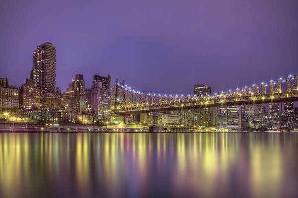Queensboro Art Print featuring the photograph Radiant City by Evelina Kremsdorf