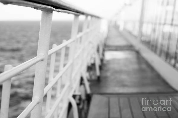 Abstract Art Print featuring the photograph Railings by Anne Gilbert