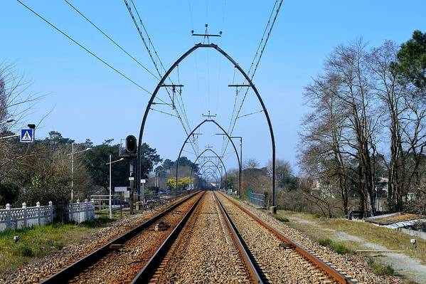 Railway Tracks Art Print featuring the photograph Railway Tracks by Bishopston Fine Art