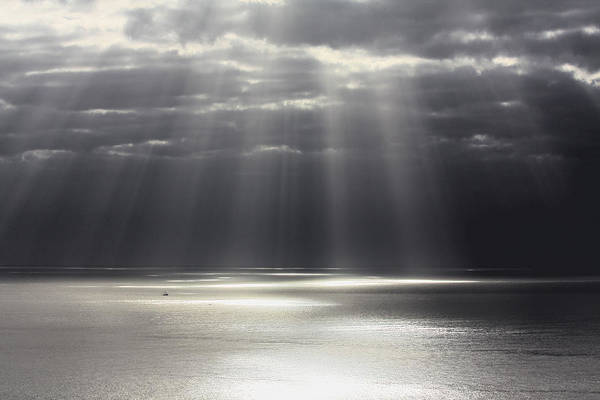 Seascape Art Print featuring the photograph Rays Of Hope by Shane Bechler