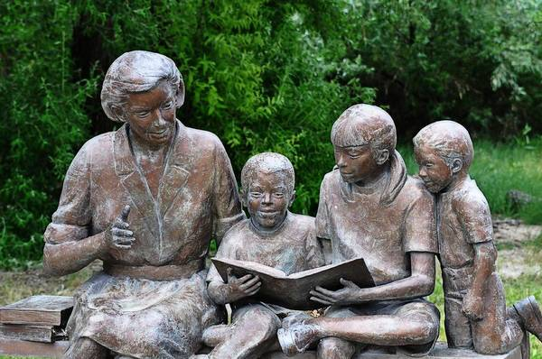 Melba Art Print featuring the photograph Reading The Story by Image Takers Photography LLC