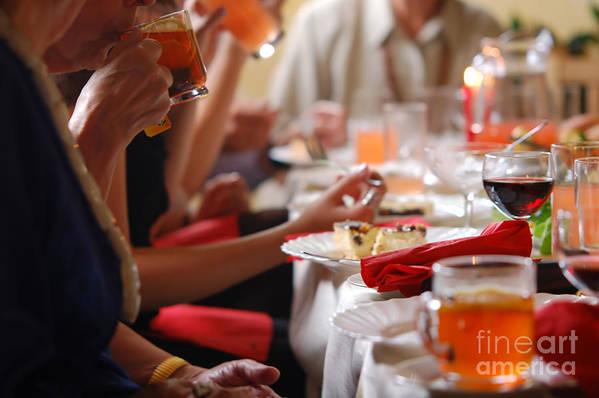 Banquet Art Print featuring the photograph Reception by Michal Bednarek