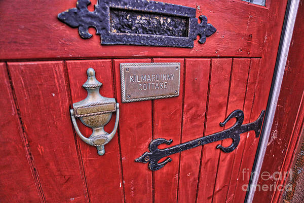 Red Door Art Print featuring the photograph Red Cottage Door by Kate Purdy