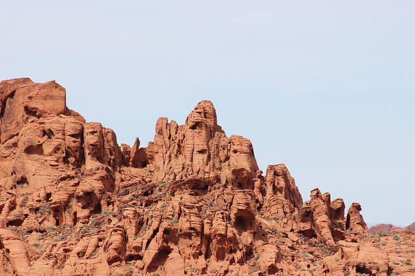 Mountain Art Print featuring the photograph Red Rocks by Emris Photography