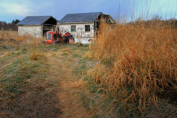 Landscape Art Print featuring the photograph Red Tractor 5 by Jim Vance