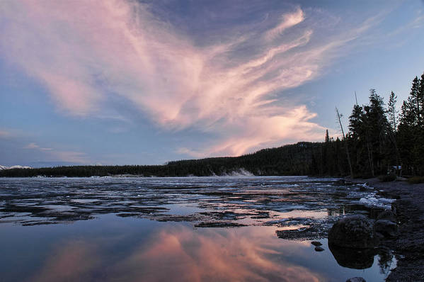 Clouds Art Print featuring the photograph Reflections At The Thumb by Frank Burhenn