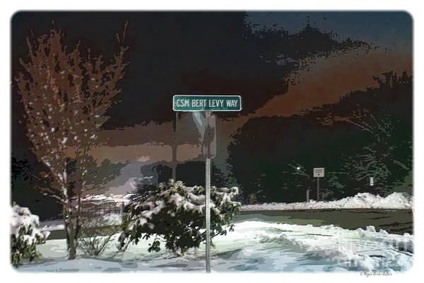 26 Yankee Infantry Division Art Print featuring the digital art Remember Bert V1 by Megan Dirsa-DuBois