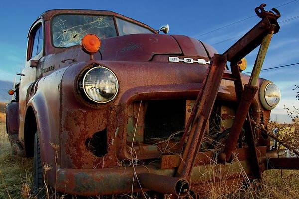 Truck Art Print featuring the photograph Retirement Has Not Been Good by Chuck De La Rosa