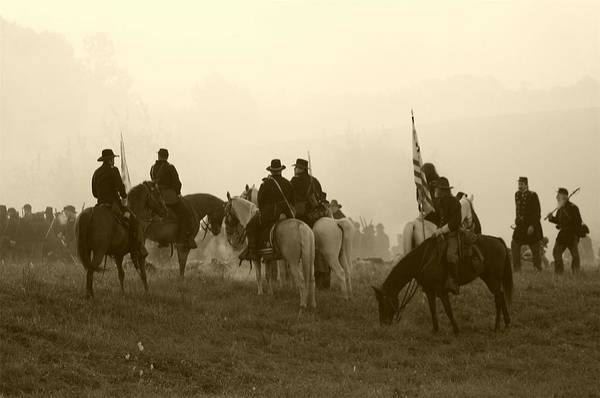American Art Print featuring the photograph Reviewing The Troops I - Perryville Ky by Thia Stover