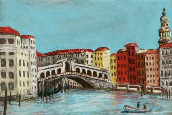 Interior Art Print featuring the painting Rialto Bridge by Anastasiya Malakhova