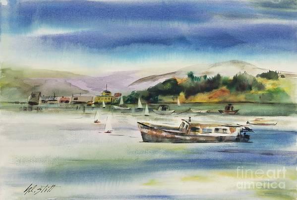 Art Print featuring the painting Richardson Bay Marin by Hazel Stitt