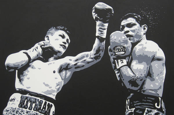 Ricky Hatton Art Print featuring the painting Ricky Hatton 2 by Geo Thomson