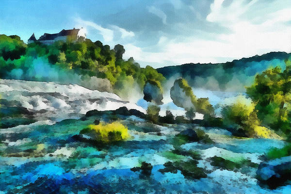 River Art Print featuring the painting Riverscape by Ayse Deniz