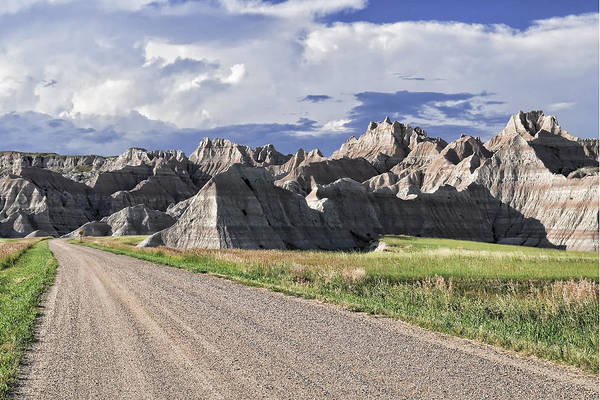 Badlands Art Print featuring the photograph Road From Interior by Frank Burhenn