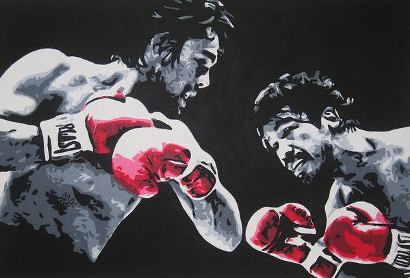 Roberto Duran Art Print featuring the painting Roberto Duran 4 by Geo Thomson