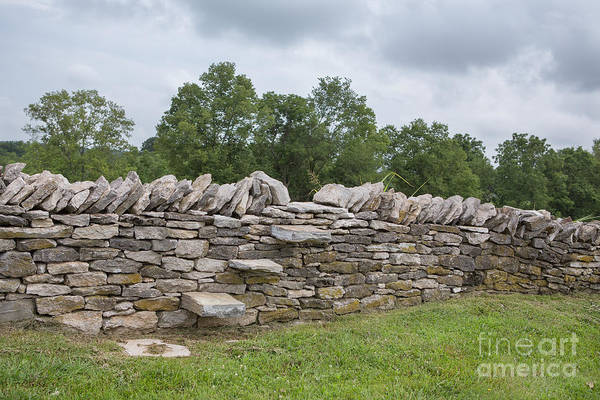 Kentucky Print featuring the photograph Rock Wall Steps by Kay Pickens