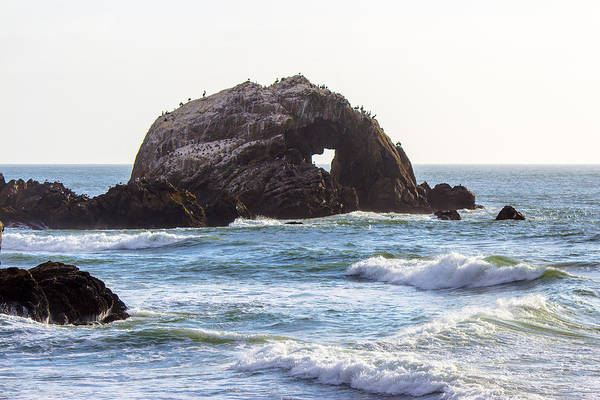 Ocean Art Print featuring the photograph Heart Rock Near San Francisco Ca Cliff House by G Matthew Laughton