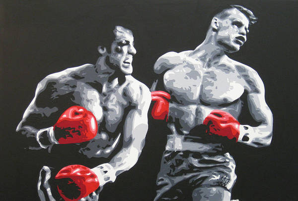 Rocky Art Print featuring the painting Rocky 4 by Geo Thomson