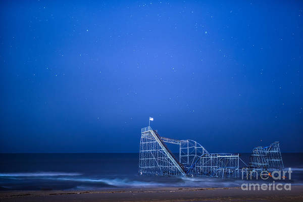Starjet Art Print featuring the photograph Roller Coaster Stars by Michael Ver Sprill