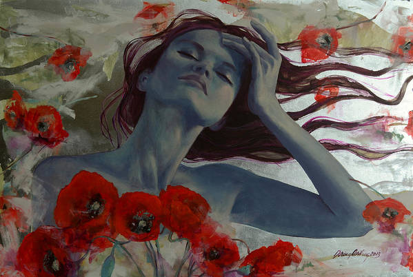 Art Art Print featuring the painting Romance Echo by Dorina Costras
