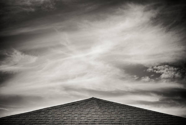 Rooftop Sky Print featuring the photograph Rooftop Sky by Darryl Dalton