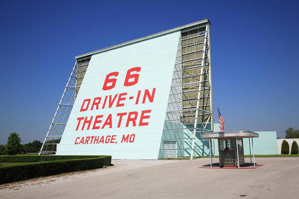 66 Art Print featuring the photograph Route 66 Drive-in Theatre by Frank Romeo
