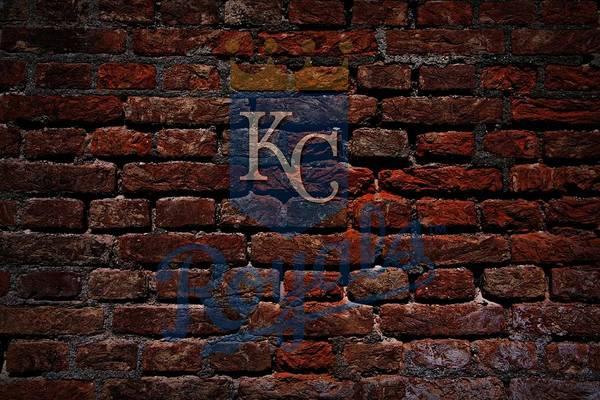 Baseball Art Print featuring the photograph Royals Baseball Graffiti On Brick by Movie Poster Prints