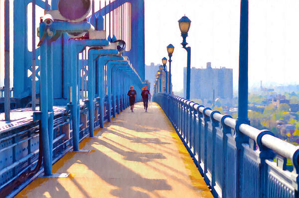 Jogging Art Print featuring the photograph Running Across The Ben by Bill Cannon