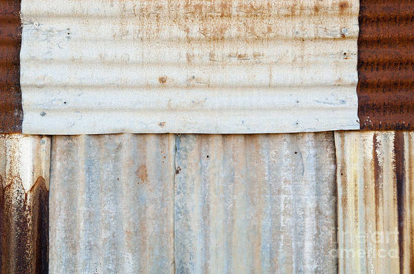 Abstract Art Print featuring the photograph Rusted Metal Background by Tim Hester