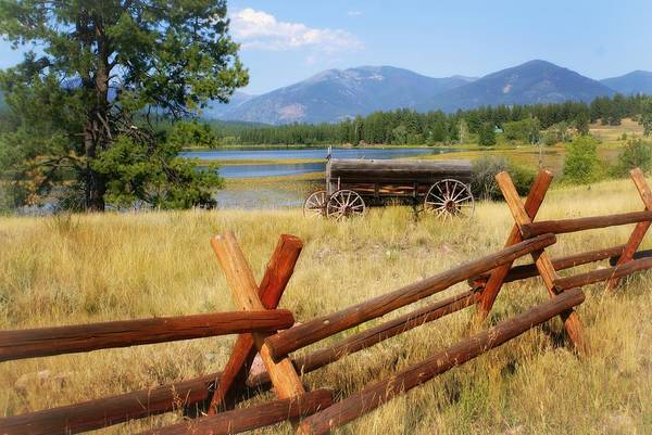 Landscape Art Print featuring the photograph Rustic Wagon by Marty Koch