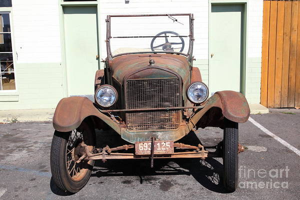 Transportation Art Print featuring the photograph Rusty Old Ford Jalopy 5d24642 by Wingsdomain Art and Photography
