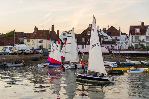 Emsworth Art Print featuring the photograph Sailing Home by Trevor Wintle