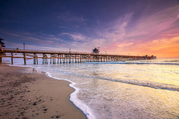 San Clemente Art Print featuring the photograph San Clemente Pier by Robert Aycock