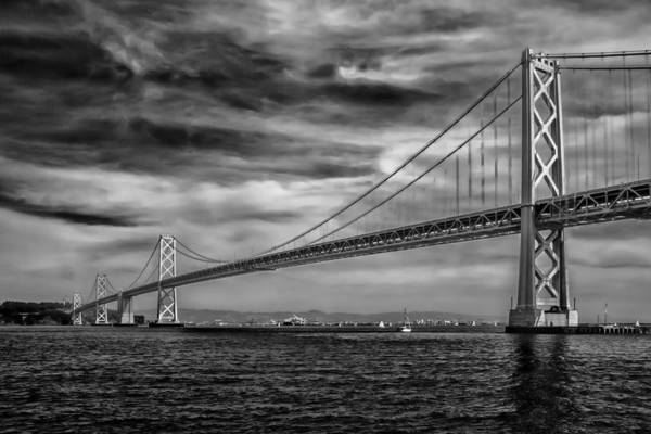 Art Art Print featuring the photograph San Francisco - Oakland Bay Bridge by Ron Pate