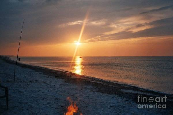 Sandy Neck Beach Art Print featuring the tapestry - textile Sandy Neck Beach Sunset by Lisa Marie Germaine