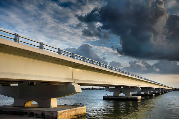 Road Art Print featuring the photograph Sanibel Causeway I by Steven Ainsworth