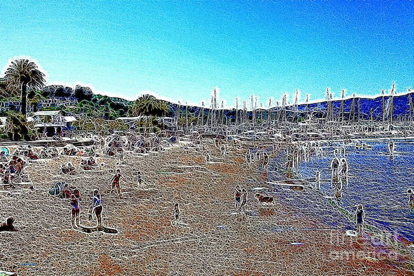Sausalito Art Print featuring the photograph Sausalito Beach Sausalito California 5d22696 Artwork by Wingsdomain Art and Photography