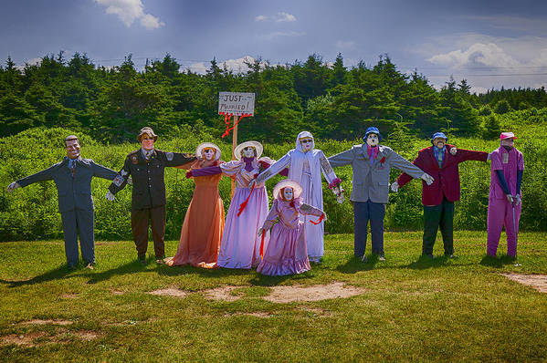 Scarecrow Art Print featuring the photograph Scarecrow Wedding by Garry Gay