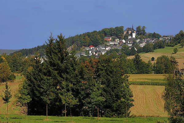 Schauenstein Art Print featuring the photograph Schauenstein - A Typical Upper-franconian Town by Christine Till