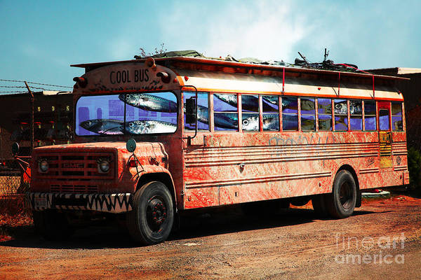 Wingsdomain Art Print featuring the photograph School Bus 5d24927 by Wingsdomain Art and Photography