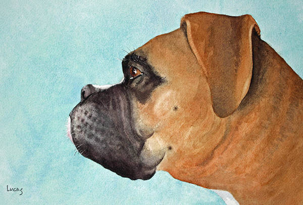 Dog Art Print featuring the painting Scuba by Jeff Lucas