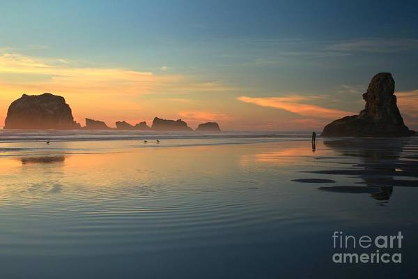 Bandon Beach Art Print featuring the photograph Sea Stack Photographer by Adam Jewell
