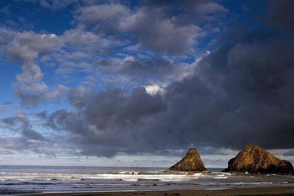 Sea Art Print featuring the photograph Sea Stacks At Dawn by Andrew Soundarajan